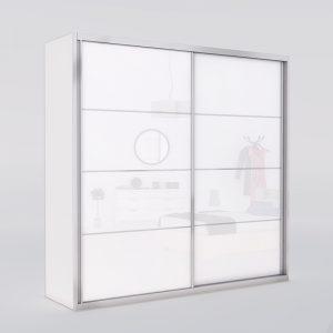 ארון הזזה מנגו 2 דלתות רדווד מראה