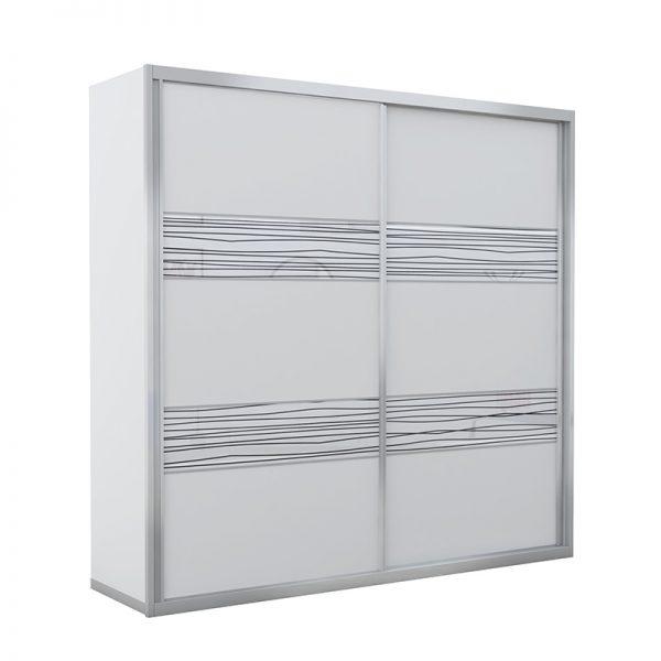 ארון הזזה שוהם 2 דלתות רדווד זכוכית